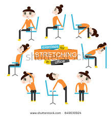 Office Chair Exercises Pretty Doing Exercises Stretching On Stock Vector 649030924