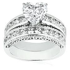 heart shaped wedding rings heart shaped diamond wedding ring sets ia heart shaped bridal sets