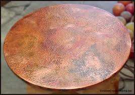 hammered copper dining table fresh ideas hammered copper dining table charming idea round copper