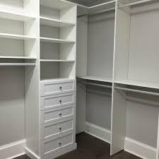 Shelving Units For Closets Custom Master Closet His Drawer Unit Shaker Sarasota Doormark