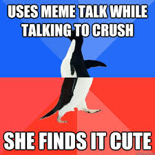 Cute Memes For Your Crush - uses meme talk while talking to crush she finds it cute socially