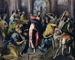 jesus drives the money changers from the temple