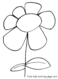 print spring flower bloodroot coloring pagefree printable