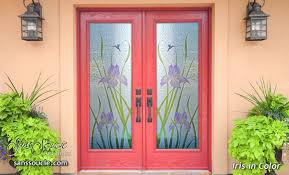 Front Door Glass Designs Glass Front Doors With Beautiful Hand Painted Colors
