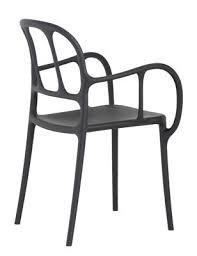 magis sedie scopri poltrona impilabile mil罌 plastica nero di magis made