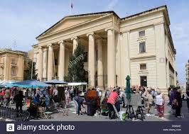 siege unesco malta courts at grand siege square in in valletta malta