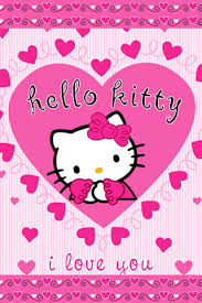 download kitty love pink colour 320 480 wallpapers
