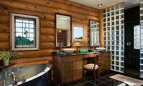 Creative Design  Log Cabin Bathroom Designs Stylist Ideas Log - Interior paint colors for log homes