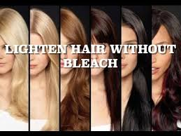 less damaging hair colors lighten hair without bleach less hair damage youtube