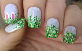 life world women spring nail art for easter with bunny ears design