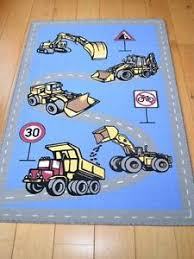 Cheap Childrens Rugs Diggers Construction Trucks Small Large Kids Rugs Childrens Rug