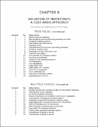 chapter 8 test bank chapter 8 valuation of inventories a cost