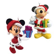 amazon com hallmark disney mickey mouse and minnie mouse santa