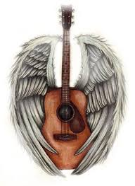 guitar with wings tattoos search