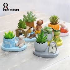 cute succulents roogo 6 shape cute animal planters japanese kawaii style succulents