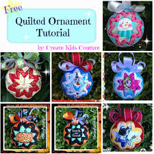 create couture quilted ornaments