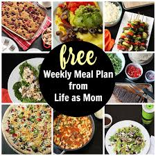 free printable meal plans u0026 grocery lists