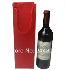 wine as a gift wholesale high quality 250gsm paper wine gift bag for packaging