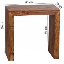 Wohnzimmertisch Uhr Finebuy Beistelltisch Massivholz 60 X 35 Cm Wohnzimmertisch Design