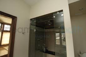 Interior Door With Transom Large Home Steam Shower With Frameless Door And Transom Photo