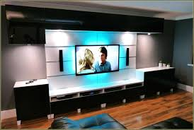 led lights for tv stand with tv cabinet custom led lighting