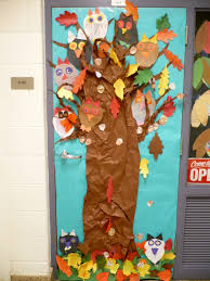classroom door decorations for fall