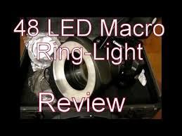 neewer macro ring led light 48 led macro ring light video review on canon eos dslr youtube
