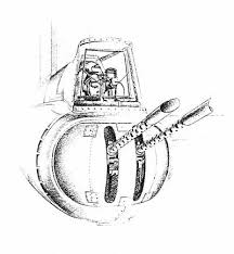 sketch of the rear gunner of the b 17 flying fortress b 17g
