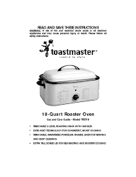Toastmaster Toaster Oven Broiler Manual Oven Users Guides