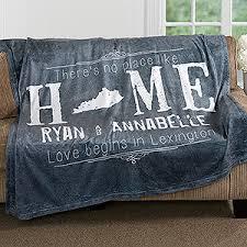 personalized wedding blanket personalized fleece blanket 50x60 state of wedding gifts