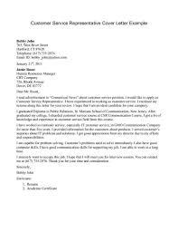 Cover Letter For Retail Jobs Customer Service Representative Cover Letters Fri Praise Resume