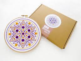 mandala embroidery kit rangoli hoop art diwali gift set diwali