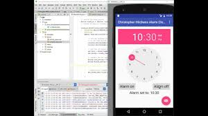 how to set alarm on android android alarm clock tutorial part 3 onclicklistener
