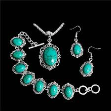 tibetan silver turquoise necklace images Limited offer 2018 vintage tibetan silver turquoise necklace jpg