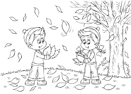 fall pictures to color free printable loving printable