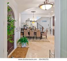 Dining Room At The Modern Modern Entrance Hall Lobby Stylish Wooden Stock Photo 284391233