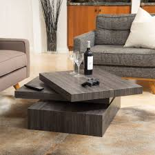 square coffee table ebay modern contemporary black oak square rotating wood coffee table