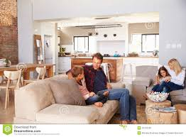 family spending time together at home stock photo image 54733435