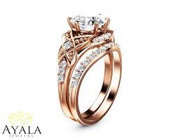 designer wedding rings bridal set 14k gold diamond ring designer engagement ring