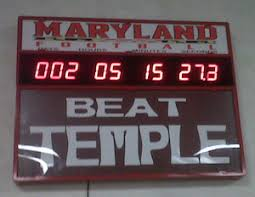 terps football kickoff countdown clock does not count to