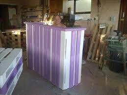 Corner Reception Desk Pallets Wood Reception Desk