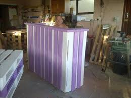 Free Standing Reception Desk Pallets Wood Reception Desk