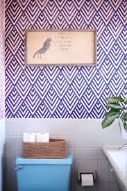 accent wall inspiration diy faux wallpaper apartment therapy