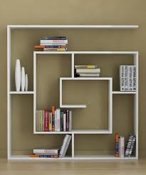 simply cool bookshelf unit design idea with unique shape inspired