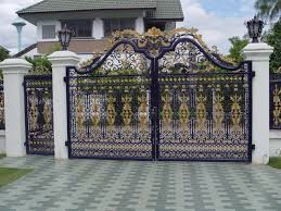 home front design interior elegant door front gate design with round shape glass