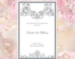 Create Your Own Wedding Program Make Wedding Program
