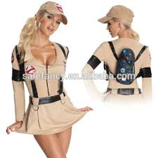 Ghostbusters Halloween Costumes Ladies Ghostbusters Halloween Fancy Dress Costume 80s