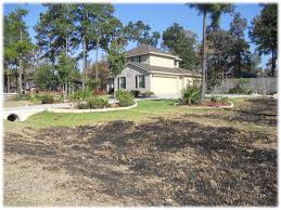preparing for wildfires protect your home tfs burnt grass leading up to non combustible landscaping