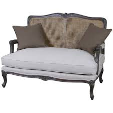 Two Seaters Sofa Louis French 2 Seater Sofa With Rattan Back French Style Sofa