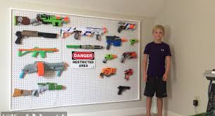 nerf gun storage on pegboard diy youtube